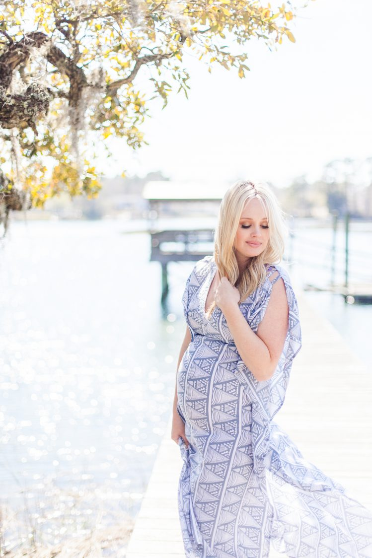 boho maternity session wilmington nc