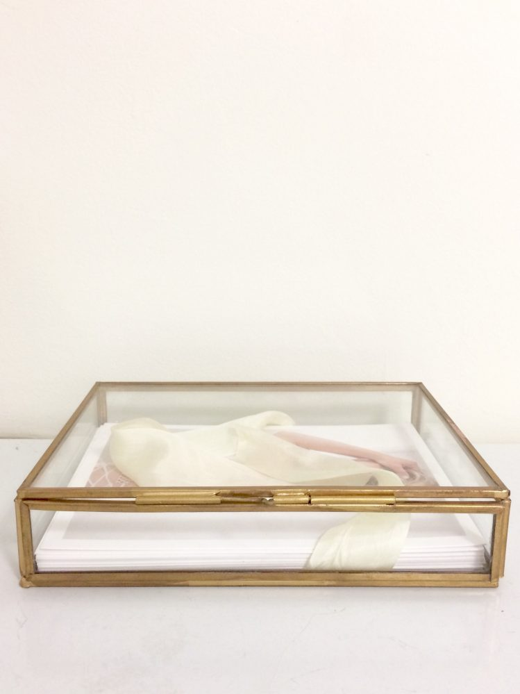 best anniversary gift gold glass boudoir box
